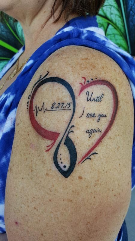 heartbeat tattoo until i see you again until i see you again by stefanee schofield tattoonow