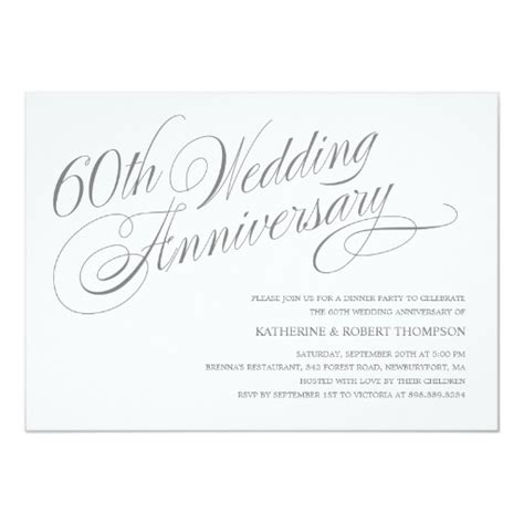 60th anniversary invitations templates 60th wedding anniversary invitations zazzle