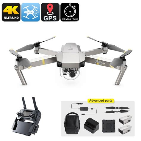 dji mavic pro platinum drone combo kmh  camera