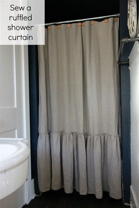 frilly shower curtain sew a ruffled shower curtain a modern thread pinterest