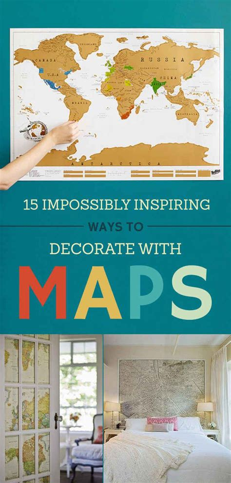 25 best ideas about map decorations on travel