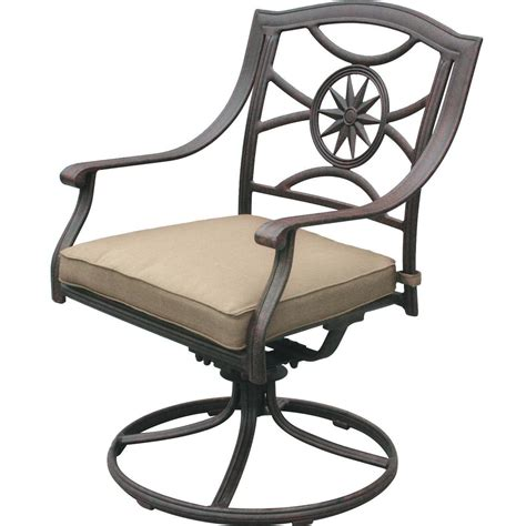 Patio Swivel Rocker Chairs Darlee Ten Cast Aluminum Patio Swivel Rocker Dining Chair Antique Bronze Ultimate Patio