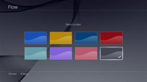 ps4 themes error ps4 2 0 firmware update features detailed new themes and