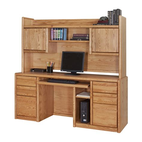 Martin Home Furnishings Contemporary Office Computer Home Computer Desks With Hutch