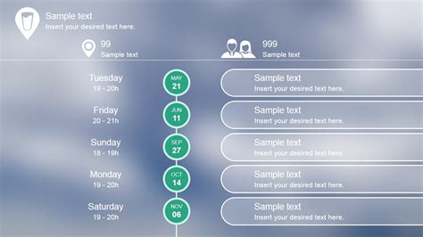 flat blurred roadmap powerpoint timeline slidemodel