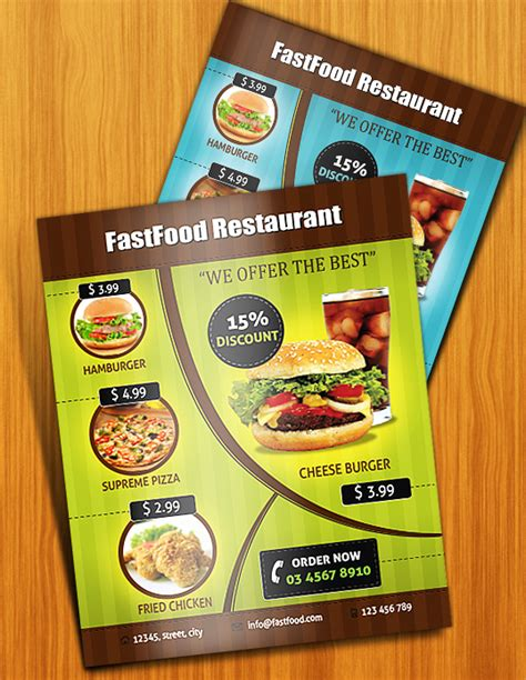 design flyer for restaurant design an appealing print ready restaurant menu in