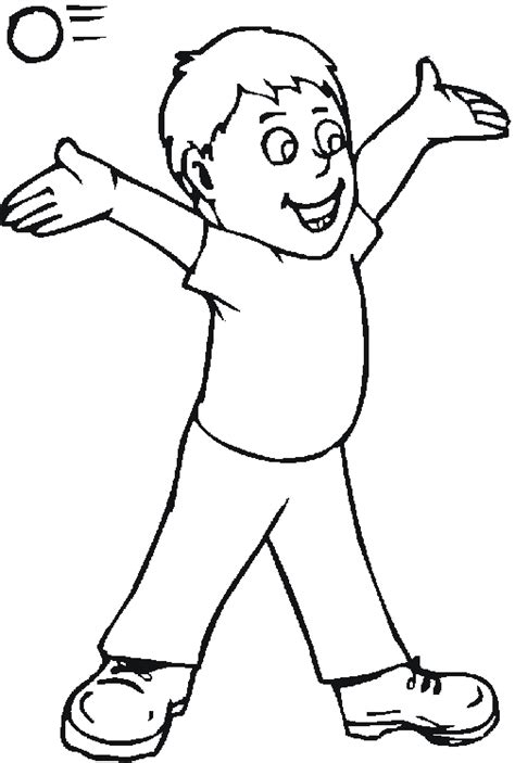 Free People Coloring Pages From Sherriallen Com Coloring Pages Of A Boy