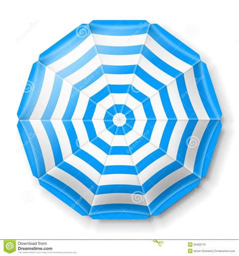 Awning Umbrella Beach Umbrella Top View Stock Vector Image 55462110