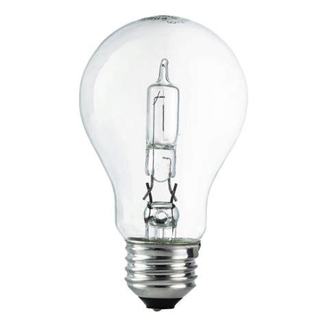 Ac 3 4 Pk Watt ecosmart 100 watt equivalent a19 dimmable clear eco incandescent light bulb soft white 24 pack