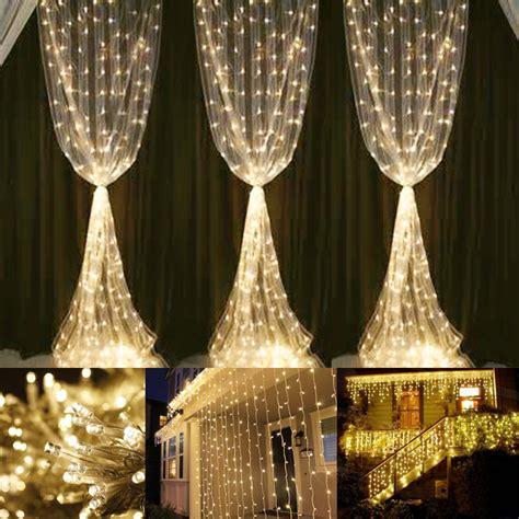 led lights warm white warm white curtain lights 594 leds 6000k ip44