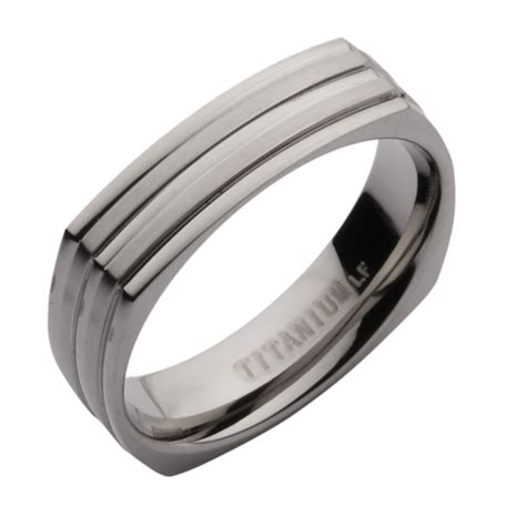 5mm Titanium Square Shaped Wedding Ring Band   Titanium Rings at Elma UK Jewellery
