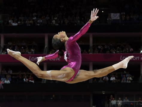 gabby douglas wins gold medal with floor routine