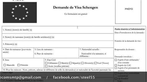 Exemple De Lettre De Demande De Visa Schengen Remplir Formulaire Demande Visa Alg 233 Rie
