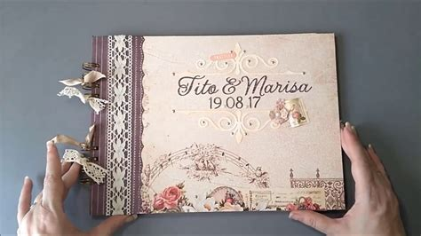libro la boda de kate libro de firmas boda estilo rom 193 ntico vintage scrap youtube