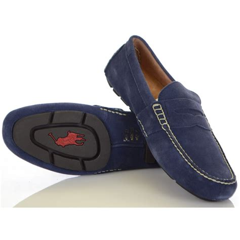 ralph telly loafer ralph shoes telly loafer in navy suede ralph