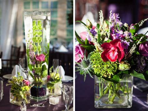 purple and green centerpieces for weddings purple green wedding every last detail