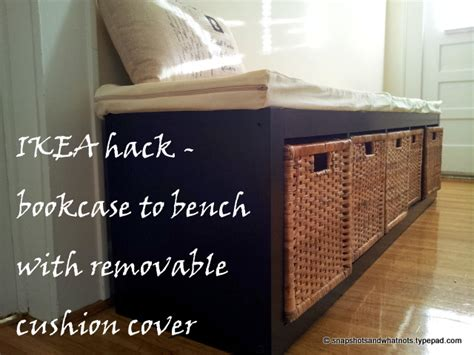 ikea hack bench bookshelf ikea hack bookcase to bench with a removable cushion