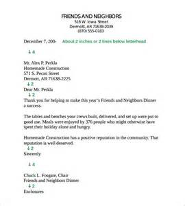 Business Letter Format And Style Business Letter Template 11 Free Documents To