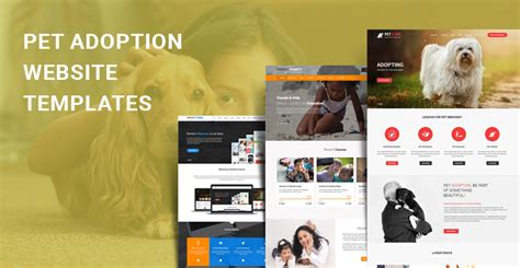 puppy adoption websites pet adoption themes for pet adoption and shelter websites skt themes