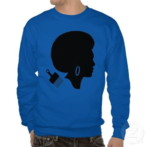 afro black power basic sweatshirt with a