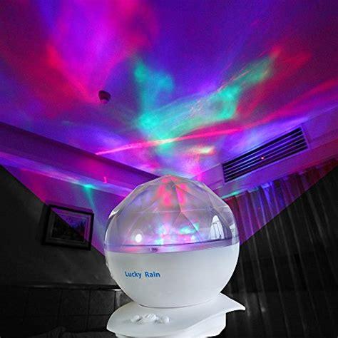 baby night light projector with music lucky rain color changing aurora nursery mood night light