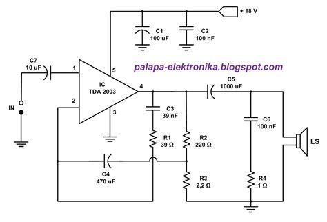 Ic Tda2003 Ic Tda 2003 Aj02 palapa elektronika rangkaian lifier mono tda 2003
