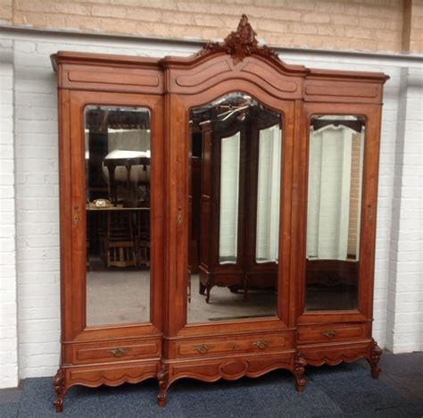 triple armoire large walnut french triple armoire 246895