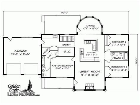 ranch style house plan 2 beds 2 5 baths 1500 sq ft plan 2 bedroom ranch floor plans ranch home floor plans ranch
