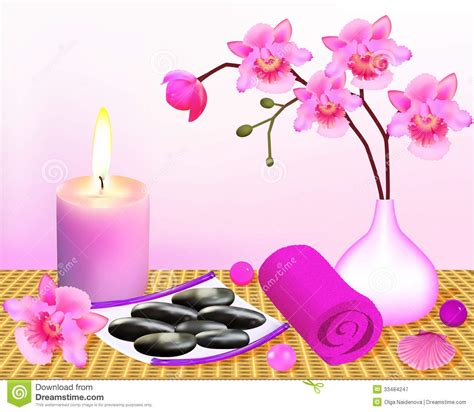 imagenes relajantes para spa background for spa with orchid and candle stock vector