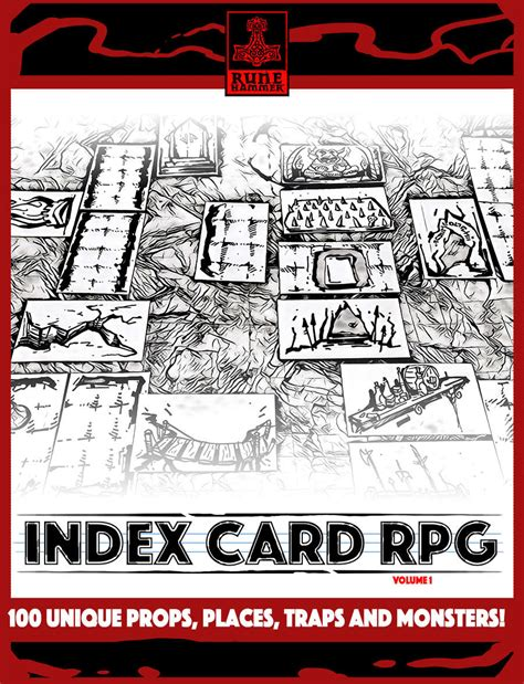 drive thru rpg card template index card rpg vol 1 runehammer drivethrurpg