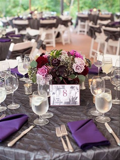 Plum, Burgundy, and Silver   Weddings   Purple wedding
