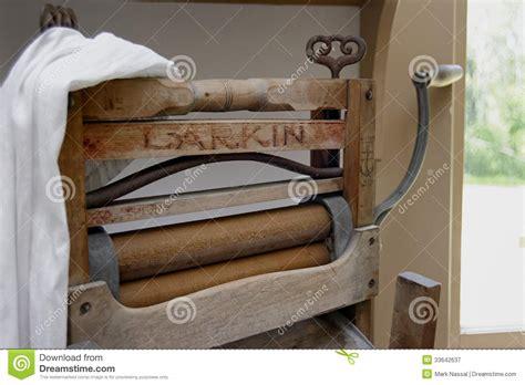 larkin clothing wringer editorial photography image