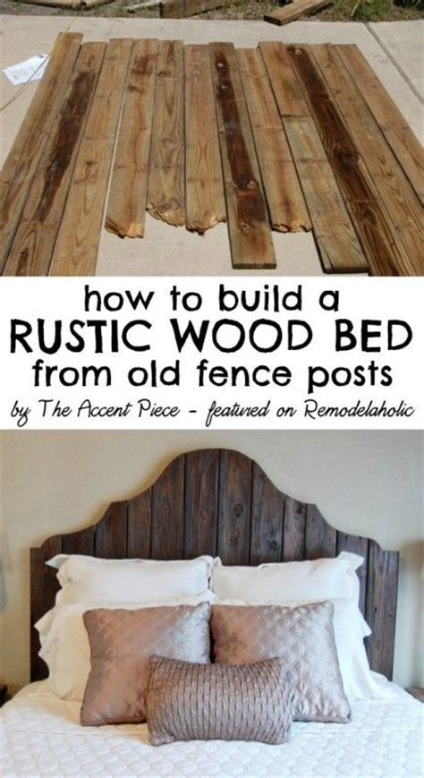 how to make rustic headboard how to build a wooden headboard and bed frame