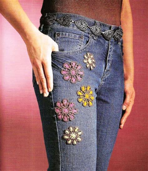 como decorar jeans imagen como decorar jeans con flores en crochet grupos
