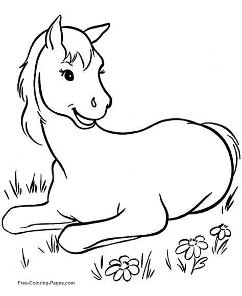 printable coloring sheets 010 free horse coloring book pages 010