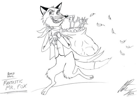 Roald Dahl Characters Coloring Pages Coloring Pages Fantastic Mr Fox Colouring Pages