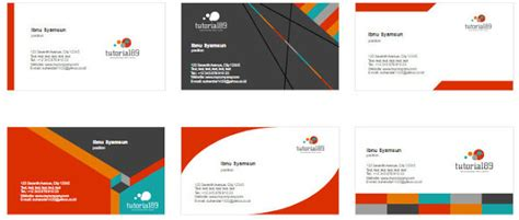 contoh desain kartu nama dengan word 100 contoh desain kartu nama keren siap pakai tutorial89