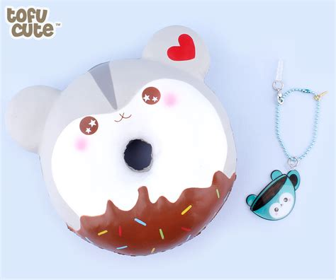 Squishy Jumbo Hamster Donut buy puni maru squishy jumbo hamster poli doughnut at tofu