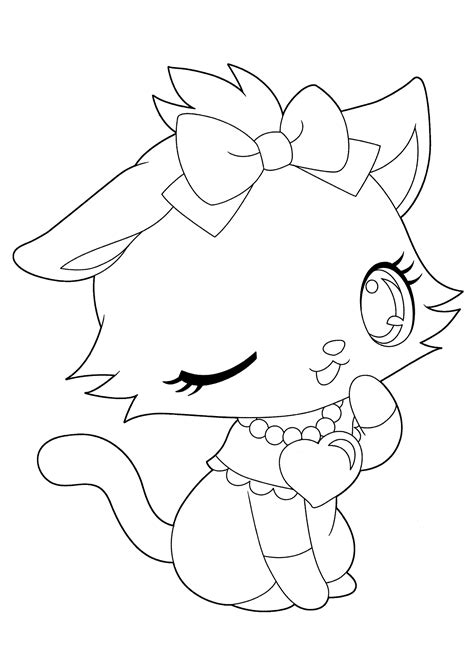 Anime Cat Girl Coloring Pages Coloring Home Anime Cat Coloring Pages