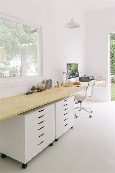 Plywood Office Desk 25 Best Ideas About Plywood Desk On Pinterest Office L Office Table Design And Desk Stool