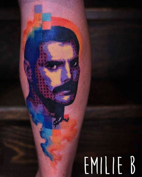 freddie mercury tattoo freddie mercury by emiliebtattoo from l imaginarium