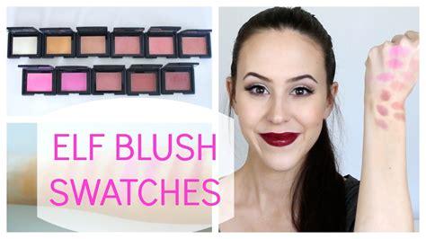 E L F Studio Blush studio blush collection swatches review 2014