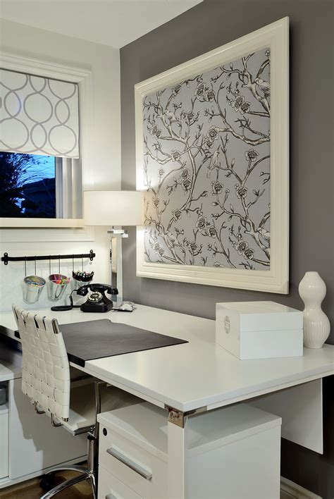 grey wallpaper office 10 modern home office images ideas