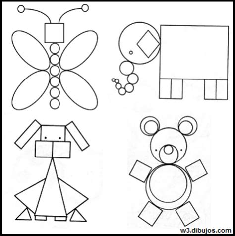 imagenes para colorear con figuras geometricas imagenes para dibujar faciles