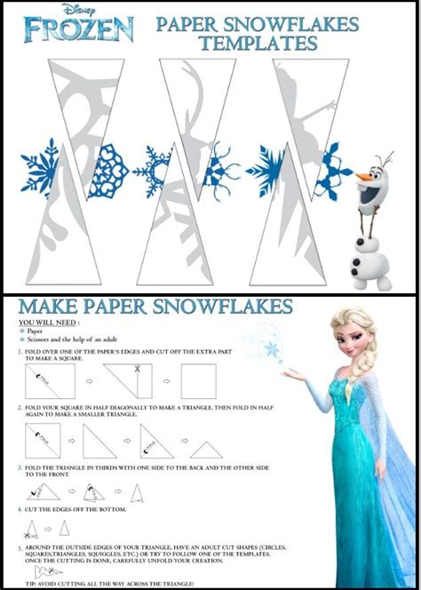 Make A Snowflake Out Of Paper - disney frozen snowflake templates i