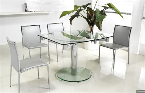 Extendable Glass Dining Table Thao Modern Extendable Glass Dining Table