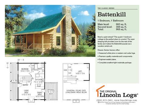 lincoln log homes floor plans log home floorplan battenkill the original lincoln logs