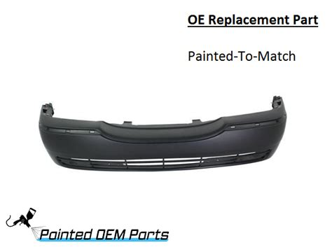 2003 lincoln town car front bumper painted 2003 2007 lincoln town car oe replacement front