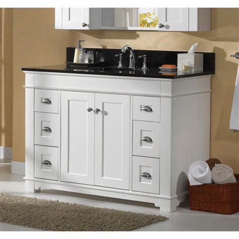 menards bathroom vanity tops magick woods 48 quot collection vanity base at menards 174