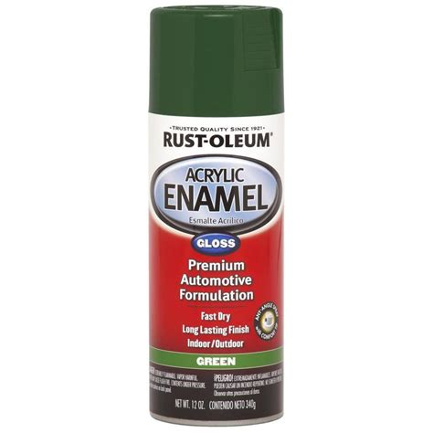 shop rust oleum automotive green enamel spray paint actual net contents 12 oz at lowes